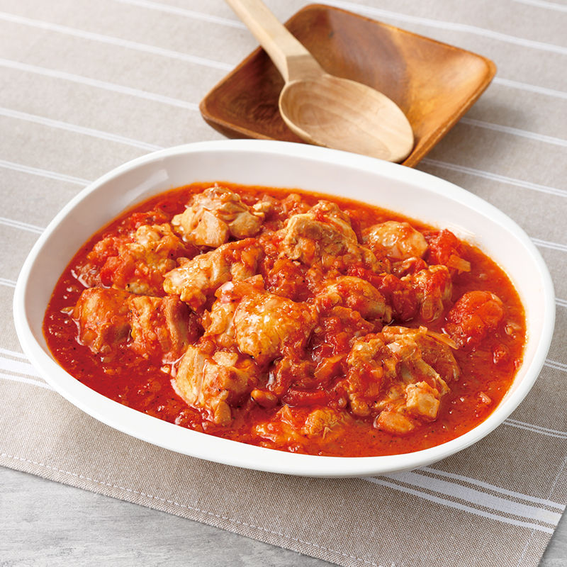 の 煮 鶏肉 トマト